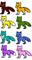 A Whole Bunch Of Adopts by Meowmixed