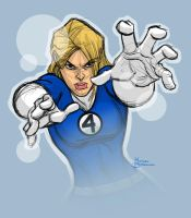 Sue Storm Color Sketch by MBorkowski