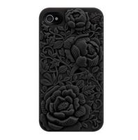 Unique Design Black Rose Embossing Case for iPhone by tracylopez
