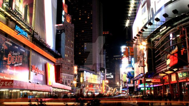 NYC at Night by kn0tme