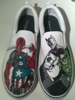 Marvel DC Shoes by Kyg0n