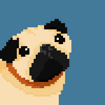 Pixel Pug by lonezi