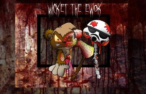 Lil' Wicket the Ewok zombie by 5chmee
