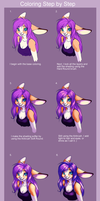 Coloring Step by Step by UnicornBlue