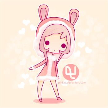 Pinky : Snowflake the bunny by pinkx2