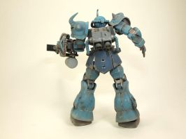 HGUC Gouf Custom Back by GameraBaenre
