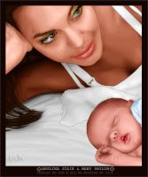 Angelina Jolie and Baby Shiloh by toxicdesire