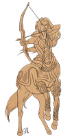 Warrior Centaur by ResidualHaunt