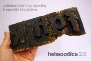 Helwoodica font 2.0 by FlipDarius