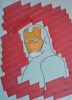 Iron Man quick marker sketch by RambleWriting