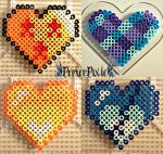 Random Hearts by PerlerPixie