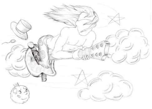 The Flying Guitar by HarlandGirl