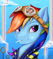 Rainbow Dash lollipop portrait by G-Glory