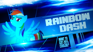Rainbow Dash 20% cooler wallpaper by ElQwerty