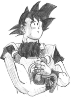 goku with baby gohan by Frank-castle