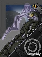 more chief and cortana by lukemckay