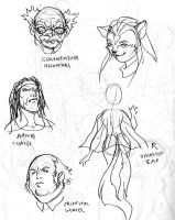 NHS EX sketches 2 by Dogsupreme