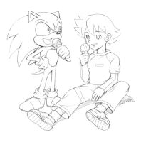 Sonic and Chris from Sonic X by LCibos