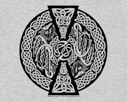 Celtic Knotwork Dragon by foxvox
