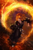 The Burning Rose by scorch62msc