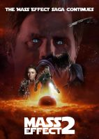 Mass Effect 2: Star Wars Style Movie Poster by ImWithStoopid13