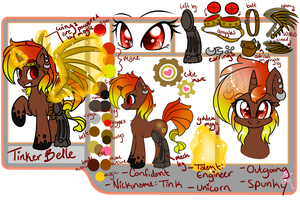 Tinker Belle ref sheet by Diigii-Doll