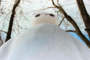 Baymax snowman by TheEntity371