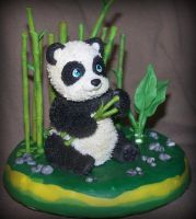panda cake topper by melinaminotti