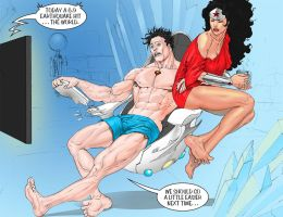Superman-WonderWoman-SaintWildCard-Text by EJMorges