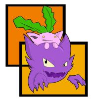 Haunter and Hoppip by Renner-P