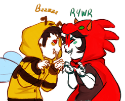 bees an dragons by BASEDGUMMY