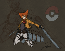 Attack on Mega Pokemon Lysandre by yamihp7