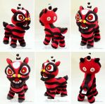 Chinese New Year Little Red Lion Plush by MyBeautifulMonsters