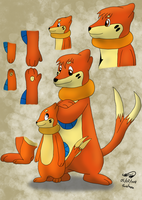 Comparing Sub-Buizel to Buizel by Threehorn