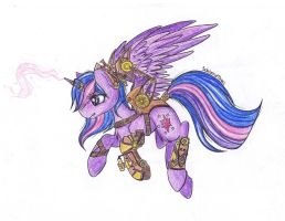 steampunk princess Twilight by SchizoidTomii