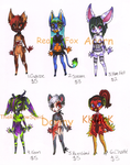 Adoptables 2nd Litter by AshenAdoptables