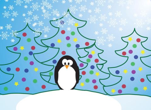 Penguin Christmas Card by xDreamPolicex