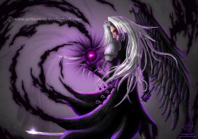 In the shadow of Sephiroth by priteeboy