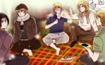 Hetalia Picnic With Allies by partee6554