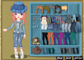 Denim Top Style by willbeyou