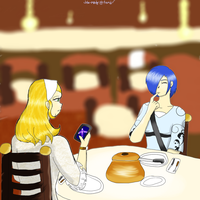 Cygnus and Gemini: The Restaurant by Blue-and-Dog