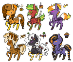 Auction: Super Sweet Halloween Ponies! [CLOSED] by Diigii-Doll