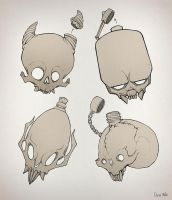 Concepts of Skull Flask by EleniWat