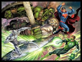 MARVEL VS DC by arf