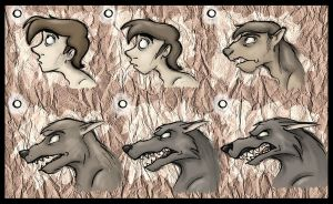 Werewolf Stages by Expression