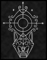 Veve of the Rougarou (Cajun Werewolf) by Nashoba-Hostina