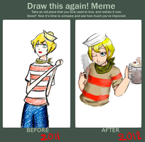 MEME: Draw this again. by lupenasi
