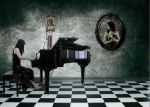 Playing the piano by Saqium