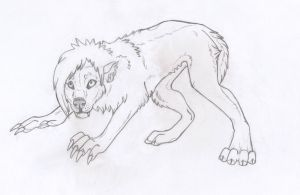 Werewolf Pup by PinkClaws