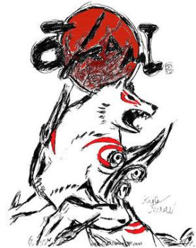 Okami-Colored-Ver.2 by phazonGhost